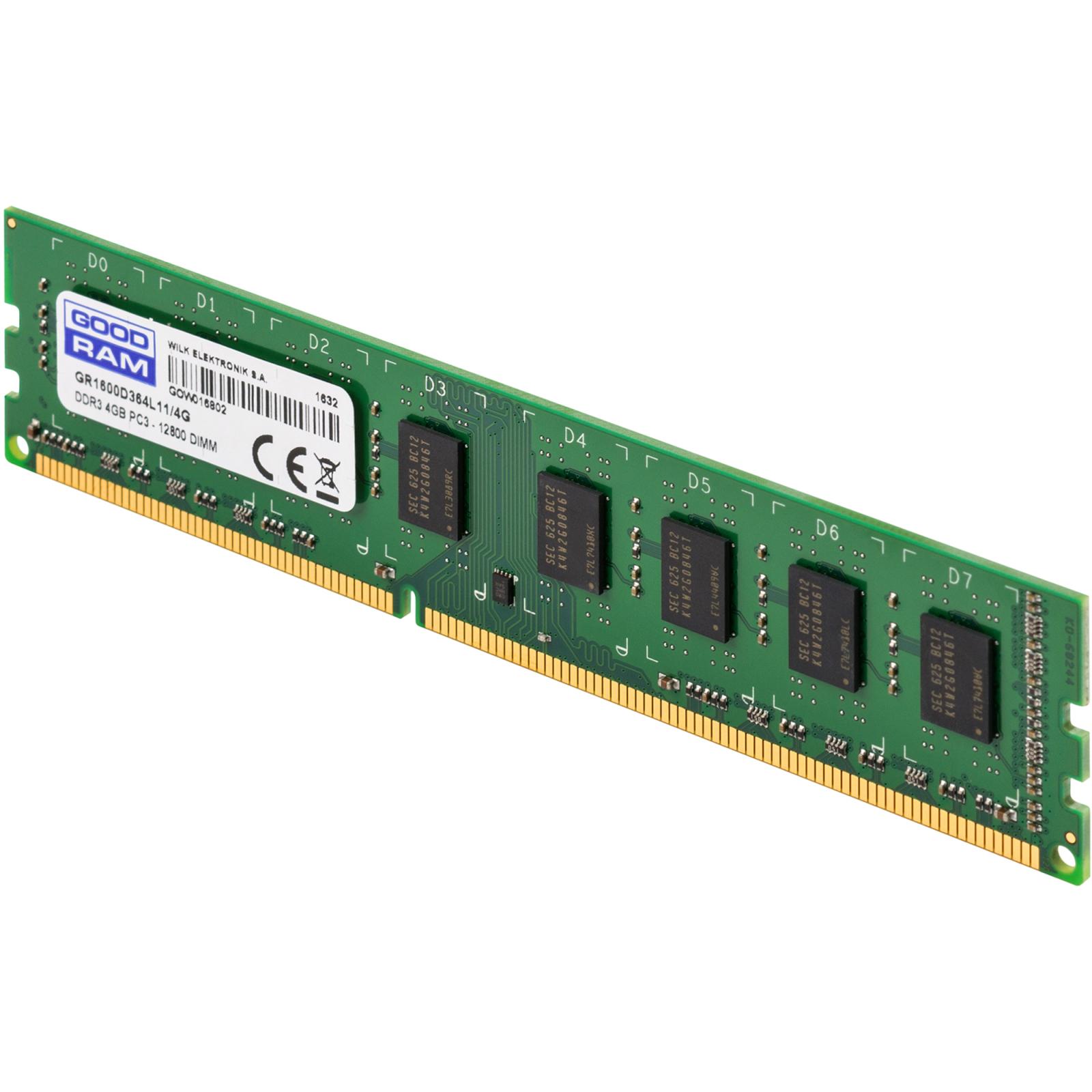 Модуль памяти для компьютера DDR3 4GB 1600 MHz GOODRAM (GR1600D364L11/4G) изображение 3