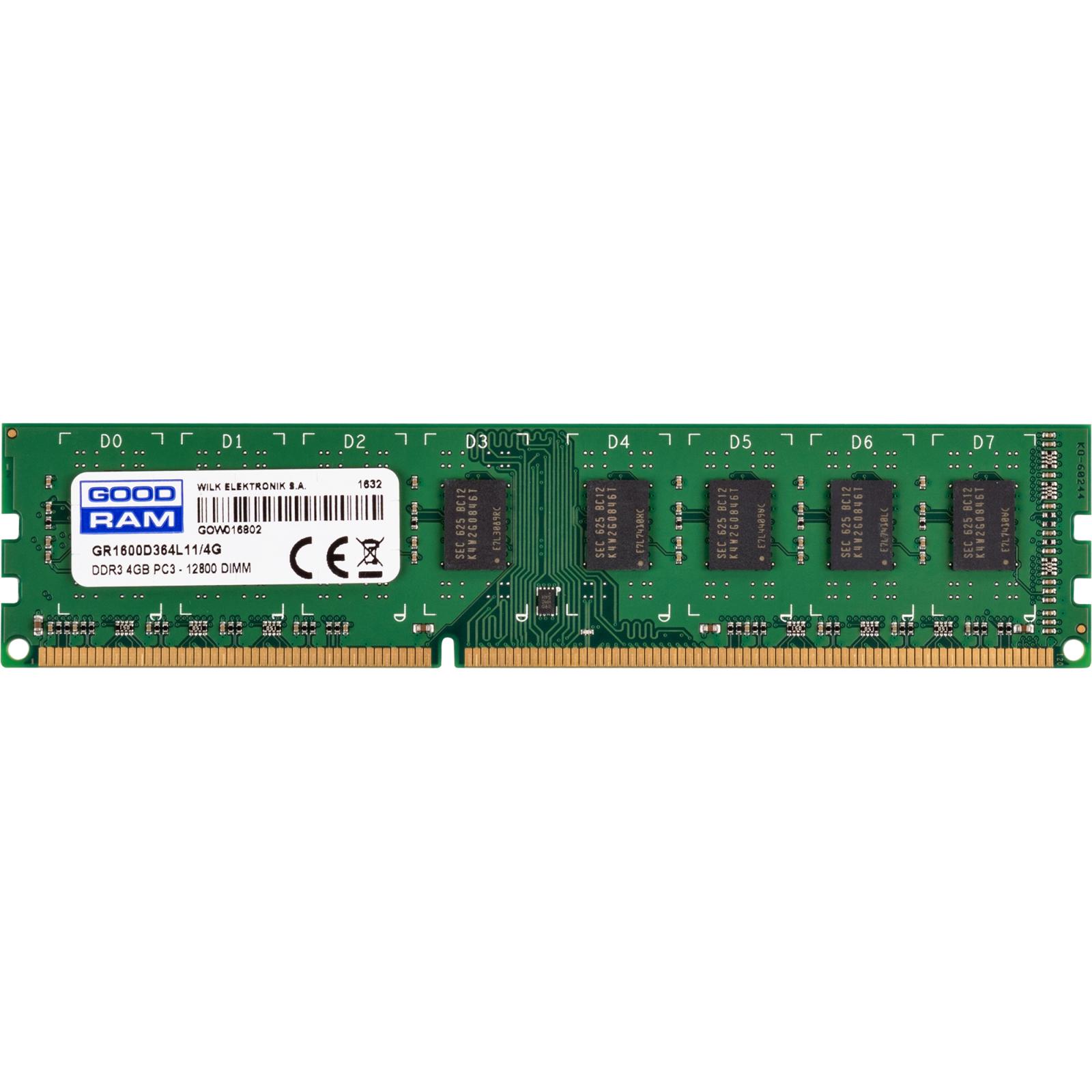 Модуль памяти для компьютера DDR3 4GB 1600 MHz GOODRAM (GR1600D364L11/4G)
