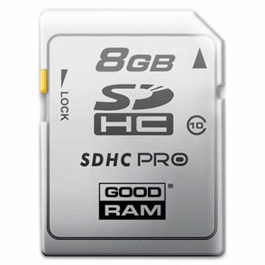 Карта памяти GOODRAM 8Gb SDHC class 10 (SDC8GHC10PGRR9)