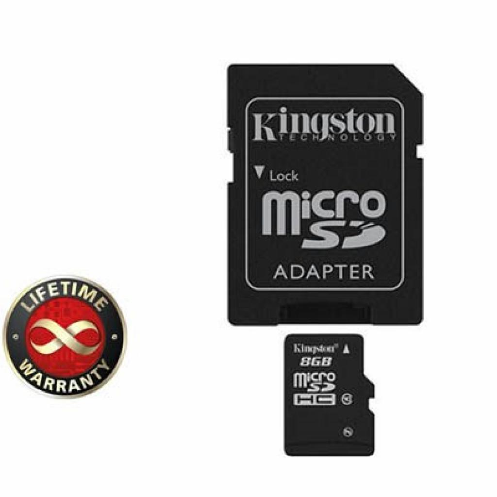 Карта памяти 8Gb microSDHC class 10 Kingston (SDC10G2/8GB)