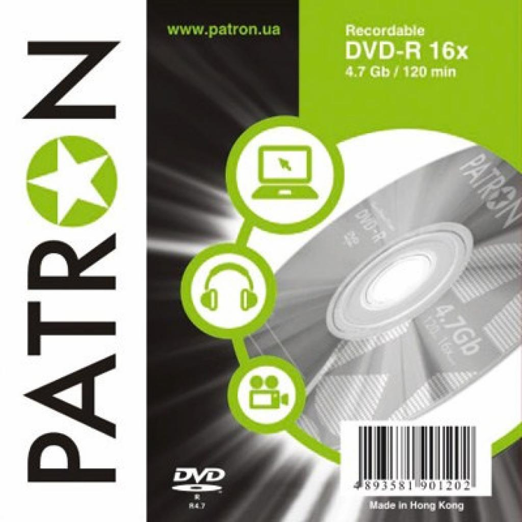 Диск DVD PATRON 4.7Gb 16x SLIM box 10шт (INS-D017)