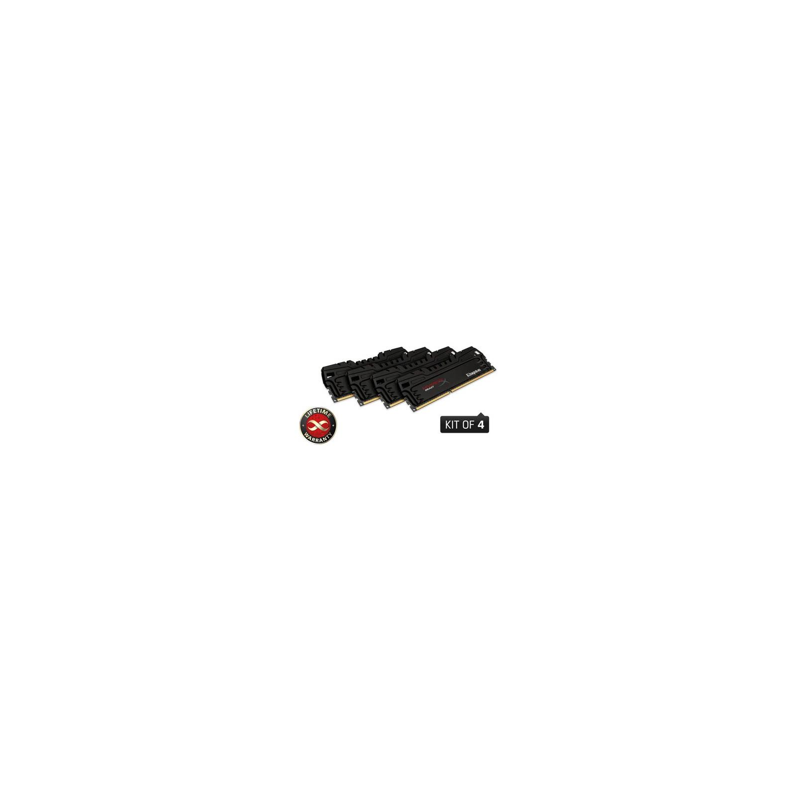 Модуль памяти для компьютера DDR3 16GB (4x4GB) 1600 MHz Kingston (KHX16C9T3K4/16X)