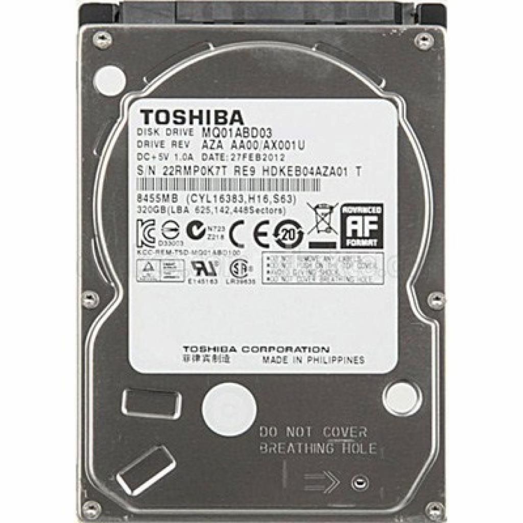 "Жесткий диск для ноутбука 2.5"" 320GB TOSHIBA (MQ01ABD032)"