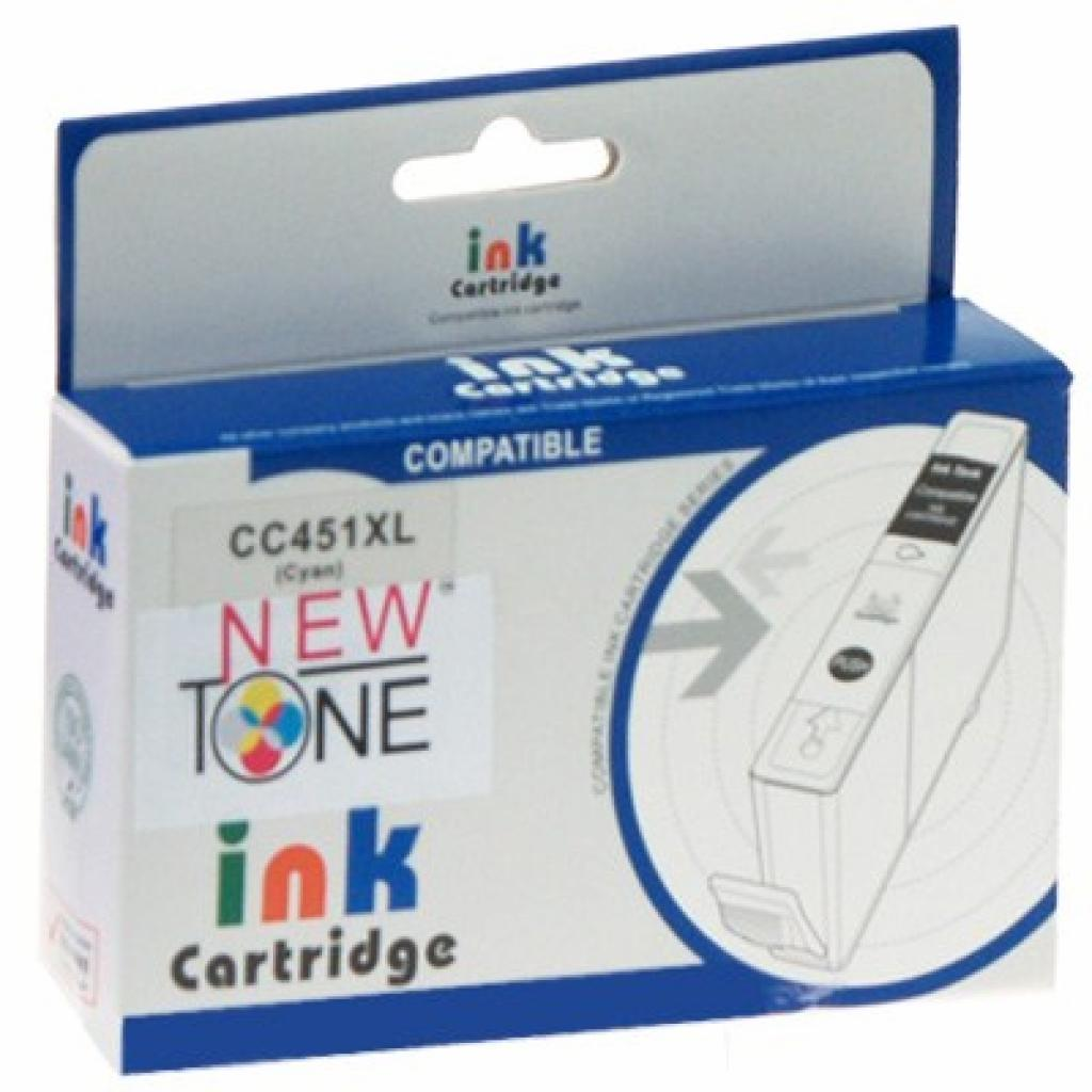 Картридж NewTone для CANON CLI-451 Cyan (CLI451XL.C)