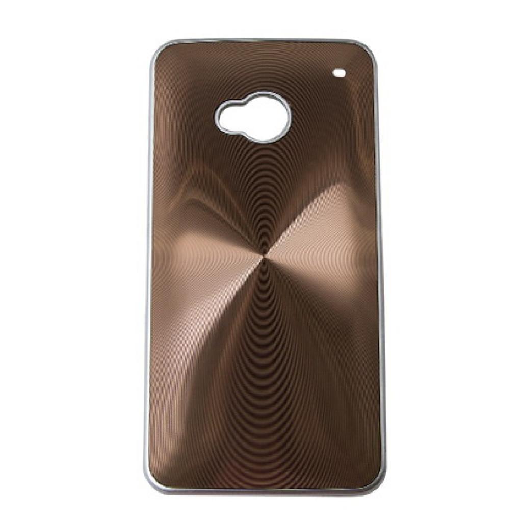 Чехол для моб. телефона Drobak для HTC One /Aluminium Panel Brown (218822)