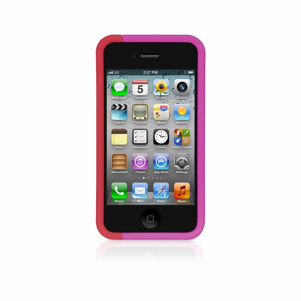 Чехол для моб. телефона XtremeMac для Apple iPhone 4 Microshield Slice Pink/Red (IPP-MSS4S-33) изображение 2