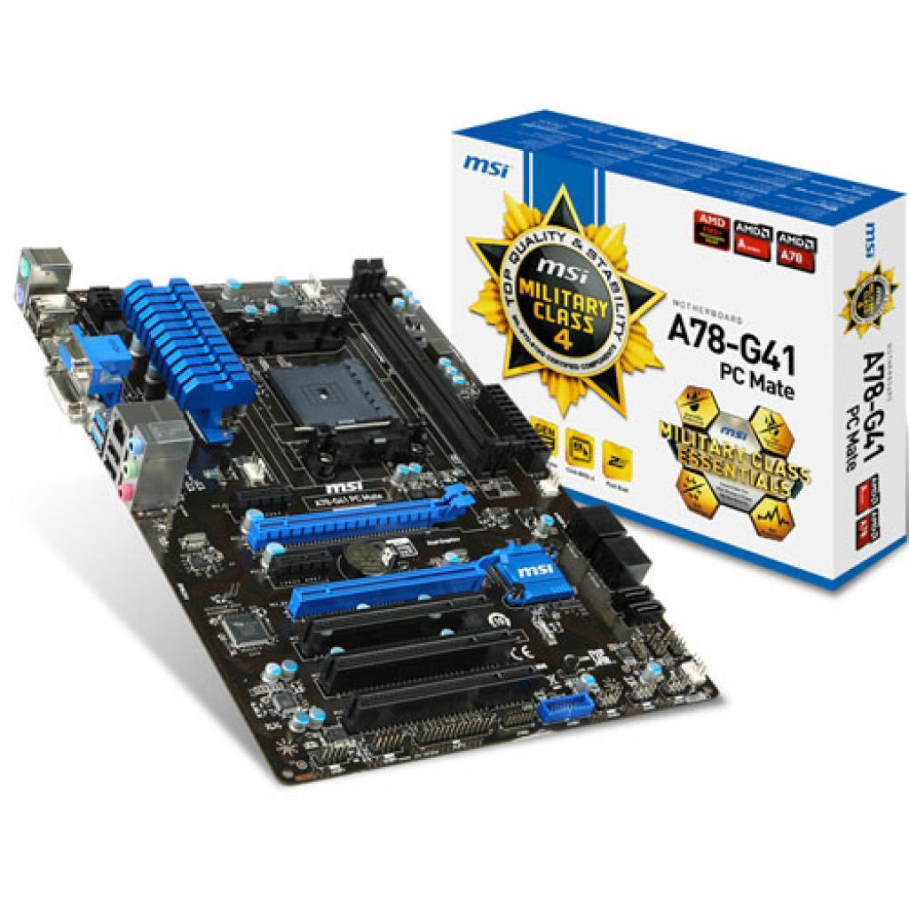 Материнская плата MSI A78-G41 PC MATE