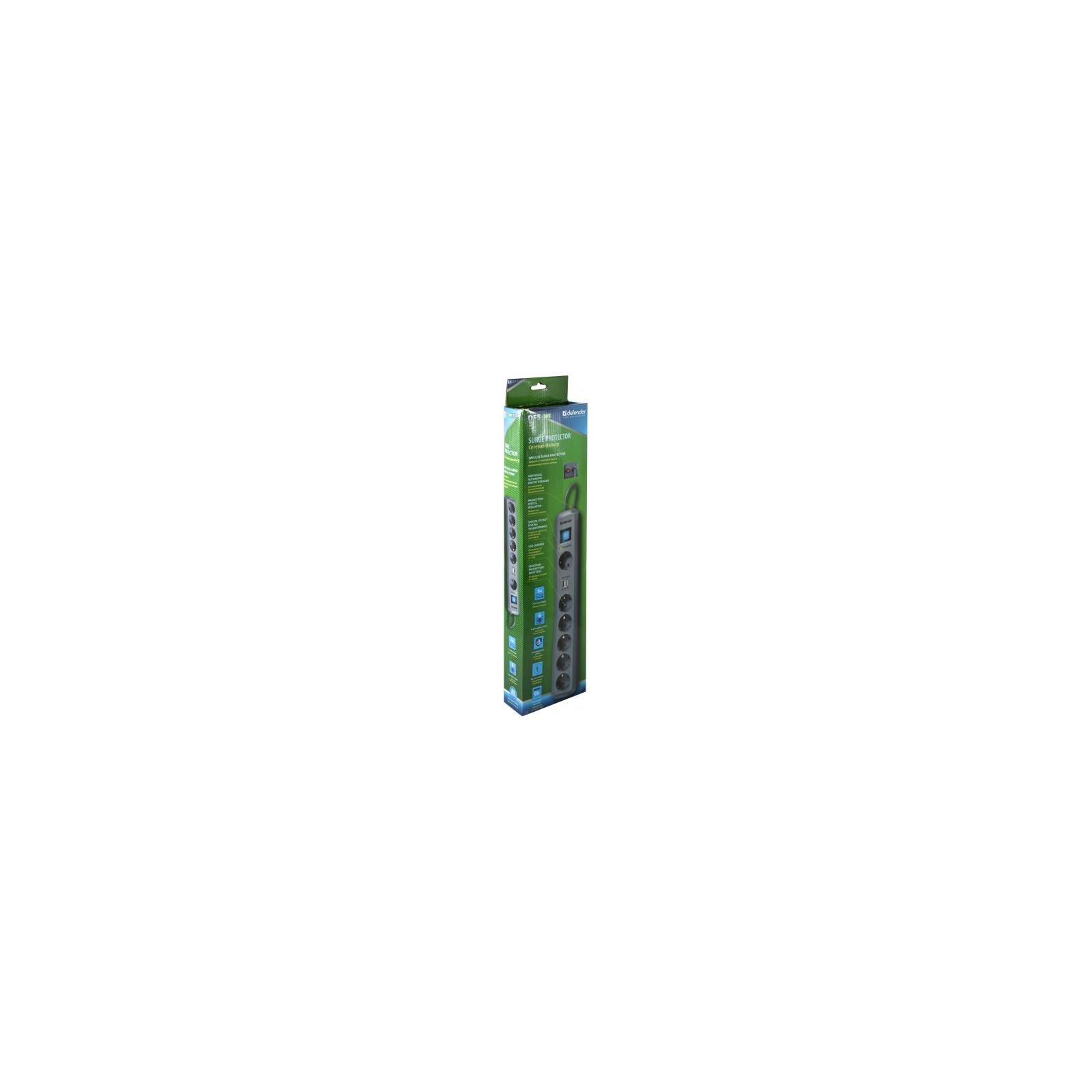 Сетевой фильтр питания Defender DEFENDER DFS 505 5m 6 роз. 2 USB порта (99055) изображение 3