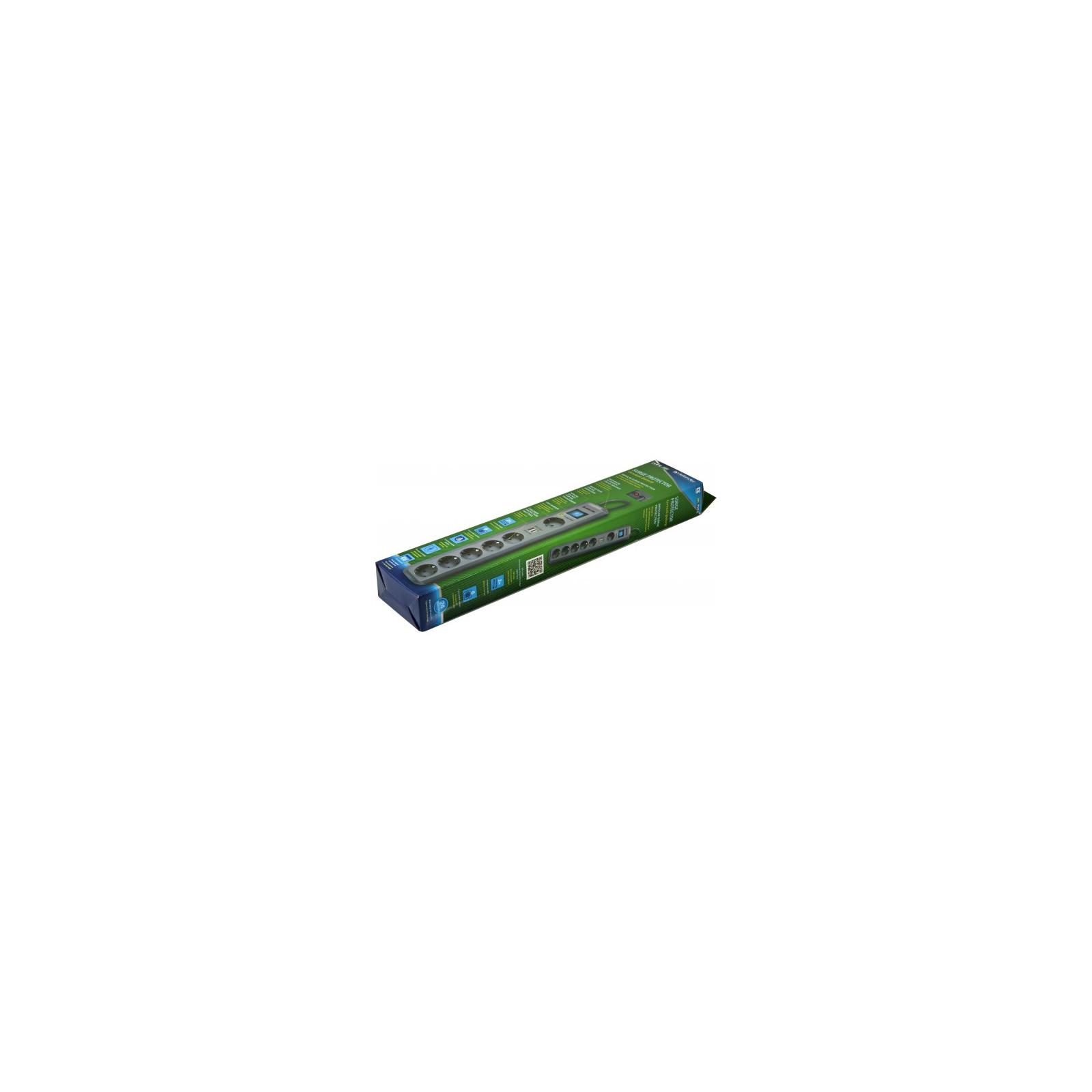 Сетевой фильтр питания Defender DEFENDER DFS 505 5m 6 роз. 2 USB порта (99055) изображение 4