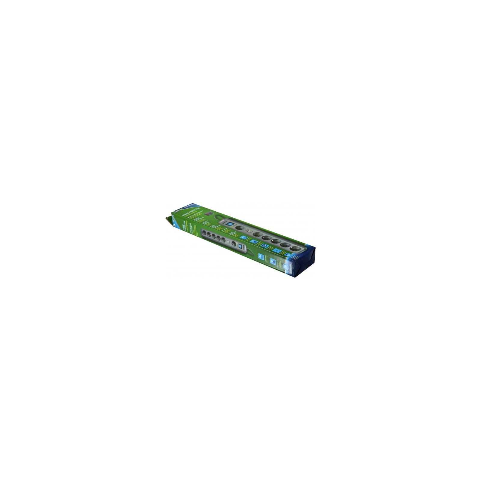 Сетевой фильтр питания Defender DEFENDER DFS 505 5m 6 роз. 2 USB порта (99055) изображение 5