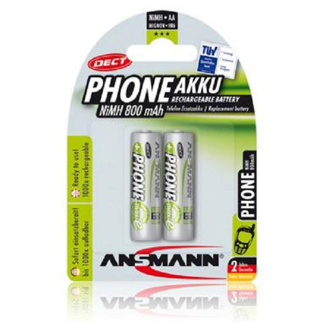 Аккумулятор Ansmann AA 800 mAh DECT * 2 (5030902)