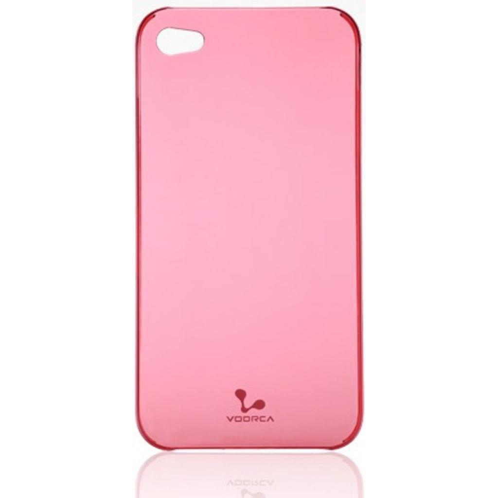 Чехол для моб. телефона VOORCA iPhone4 Smoky case рубiн (рожев) (V-4S Ruby-pink)