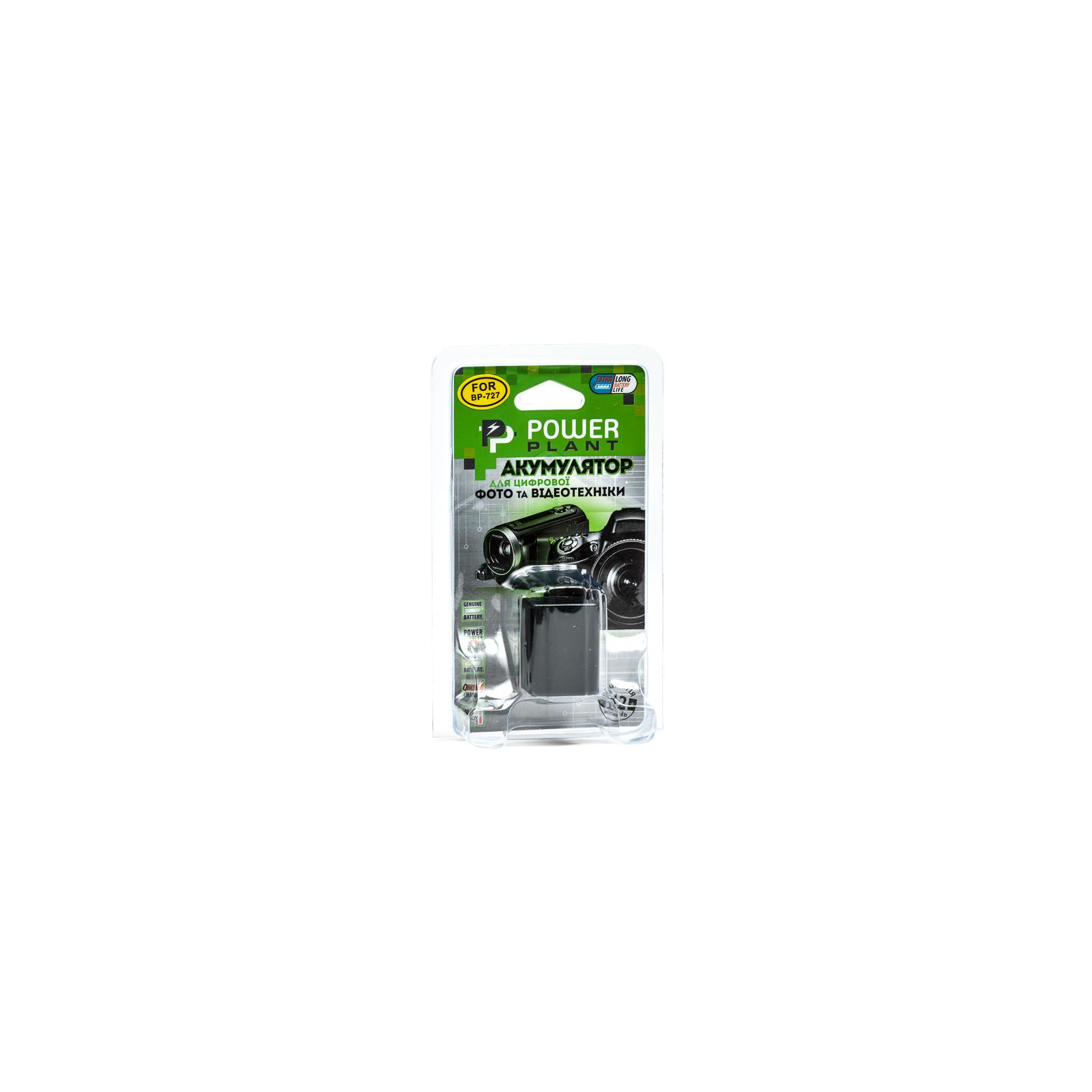 Аккумулятор к фото/видео PowerPlant Canon BP-727 chip (DV00DV1386) изображение 3