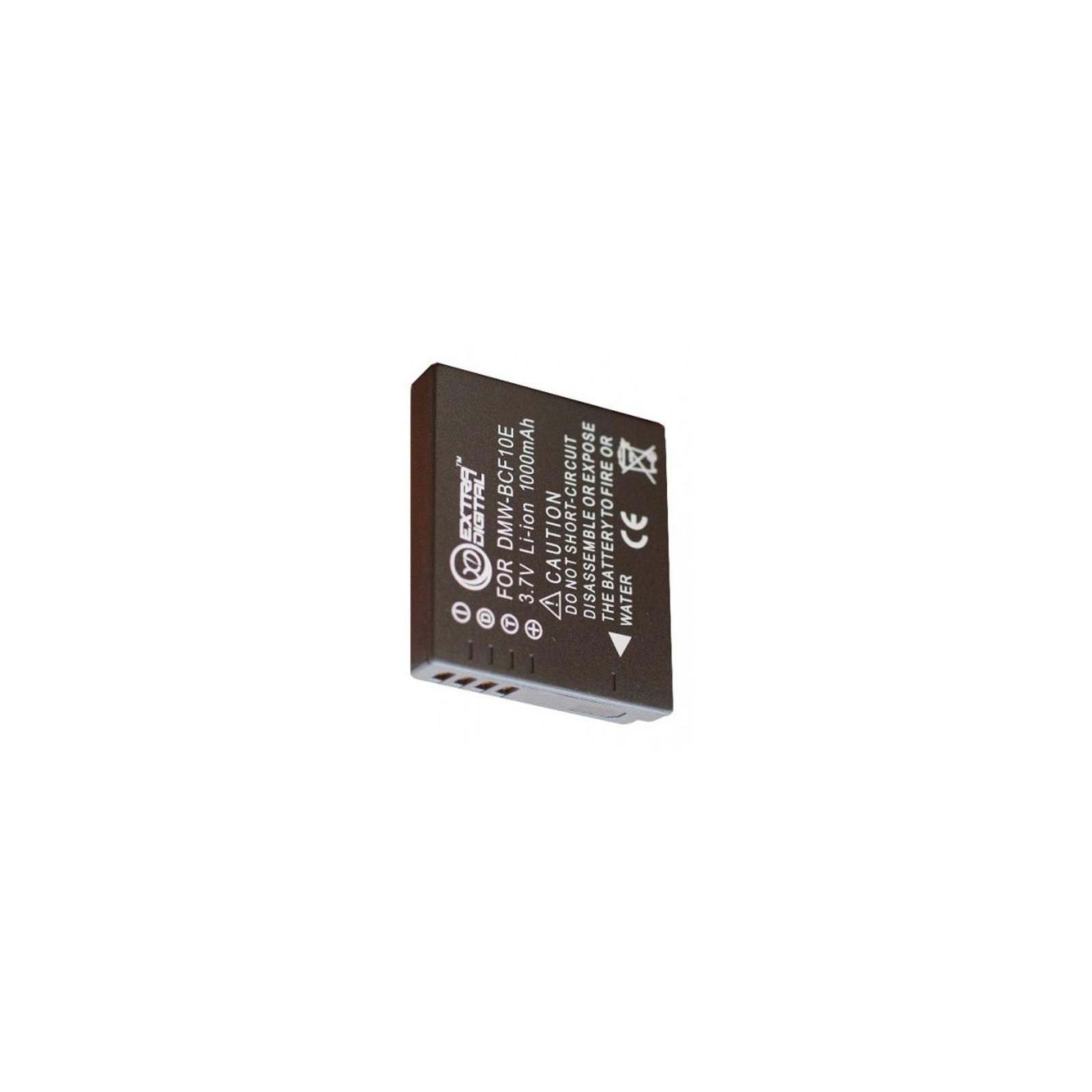 Аккумулятор к фото/видео EXTRADIGITAL Panasonic DMW-BCF10 (BDP2557) изображение 2