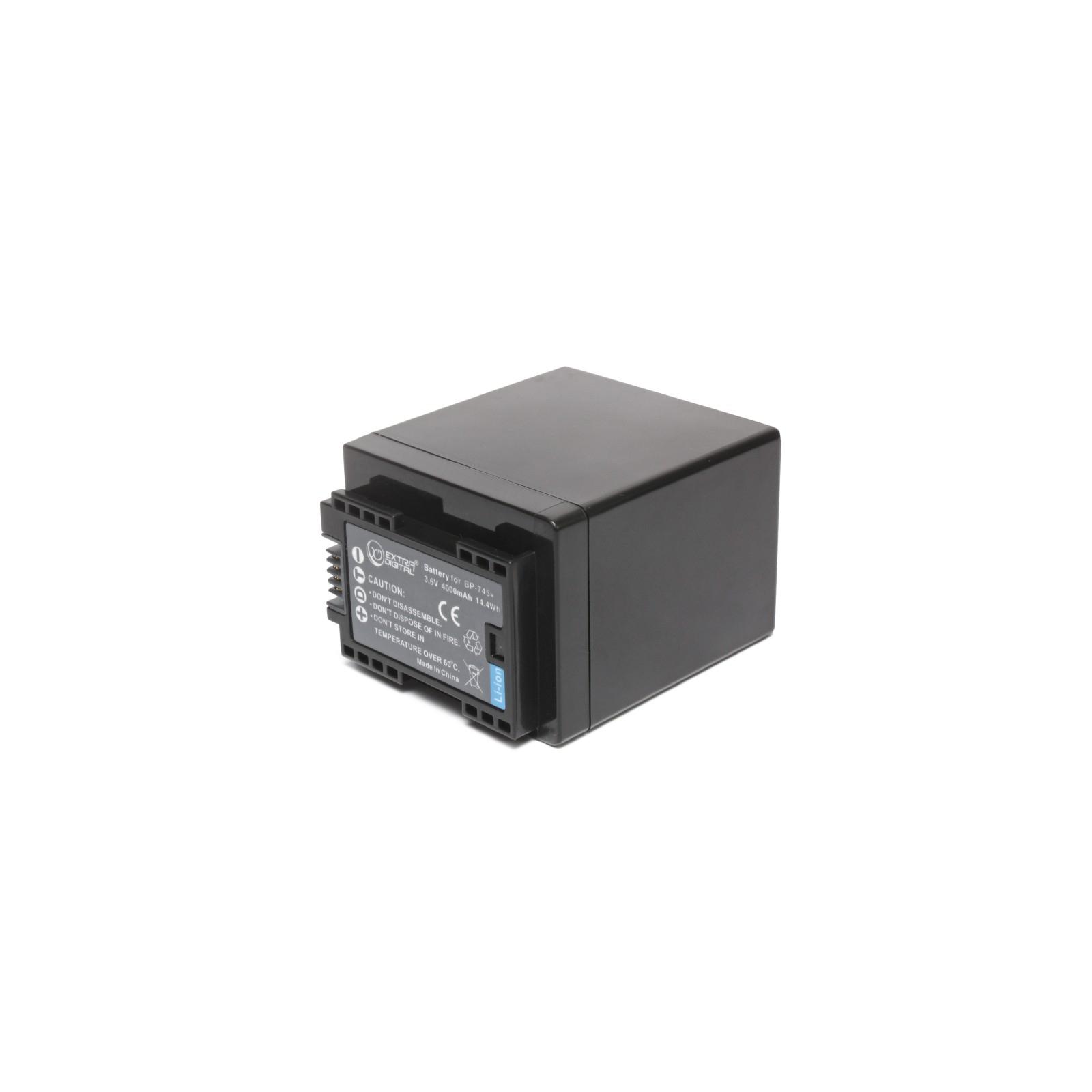 Аккумулятор к фото/видео EXTRADIGITAL Canon BP-745 (chip) (BDC1303) изображение 2
