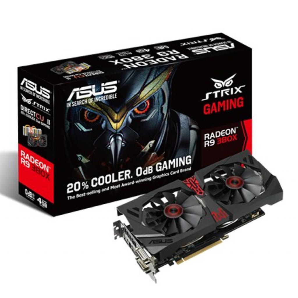 Видеокарта ASUS Radeon R9 380X 4096Mb STRIX GAMING (STRIX-R9380X-4G-GAMING)