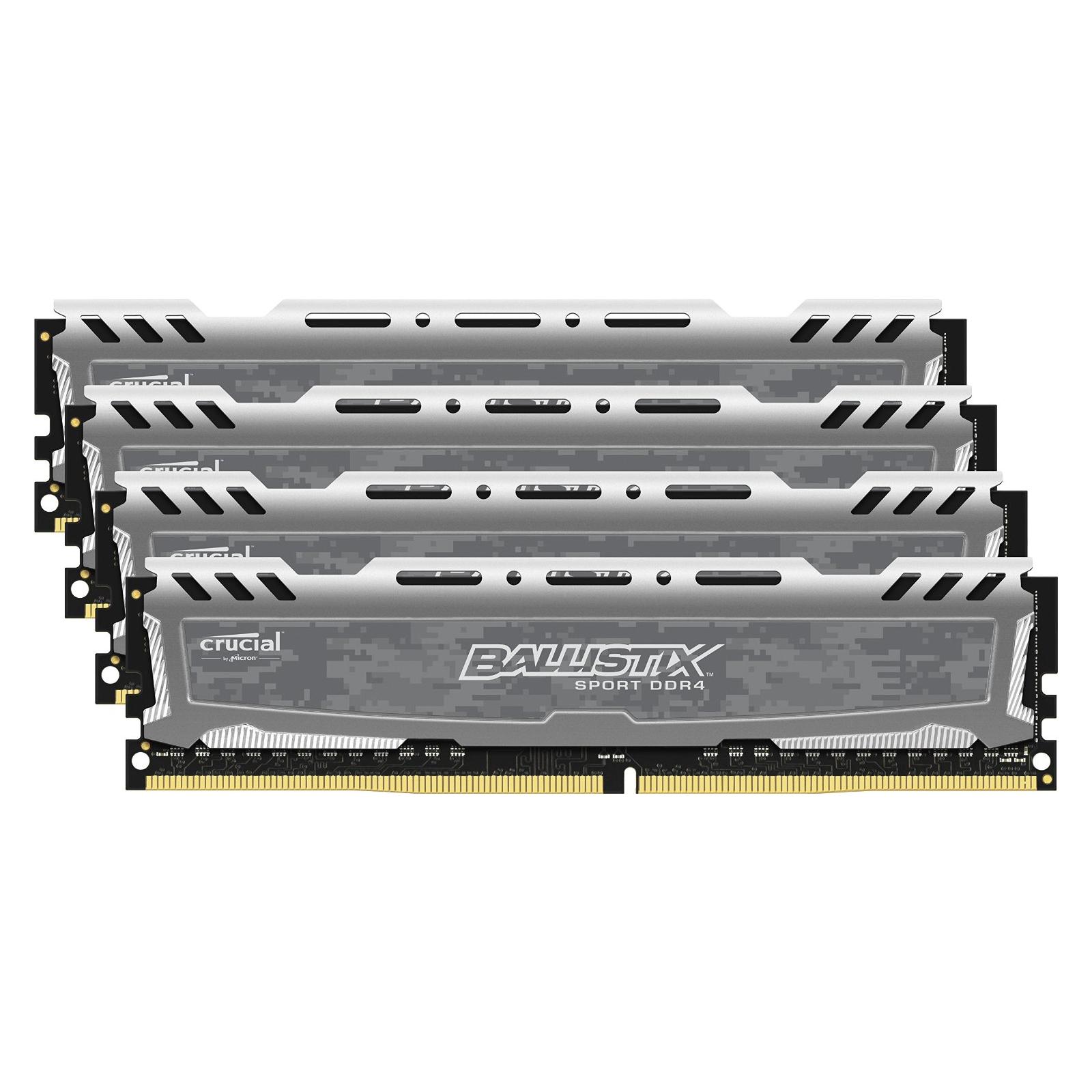 Модуль памяти для компьютера DDR4 16GB (4x4GB) 2400 MHz Ballistix Sport MICRON (BLS4C4G4D240FSB) изображение 2