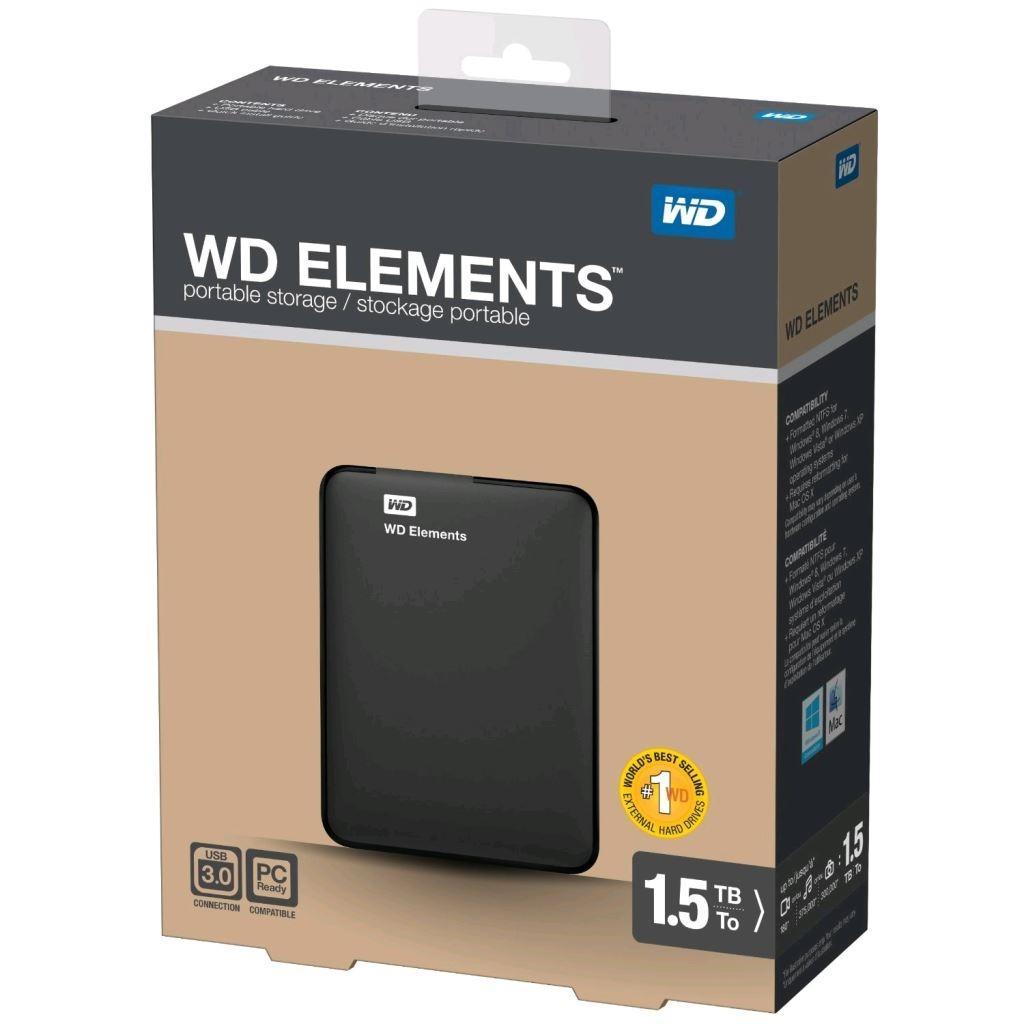 """Внешний жесткий диск 2.5"""" 1.5TB Western Digital (WDBU6Y0015BBK-EESN) изображение 8"""