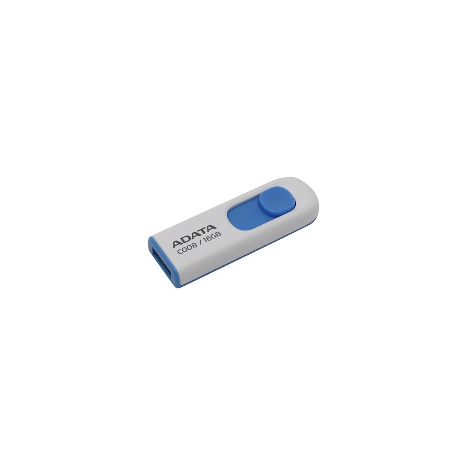 USB флеш накопитель ADATA 16Gb C008 Black/Red USB 2.0 (AC008-16G-RKD) изображение 2