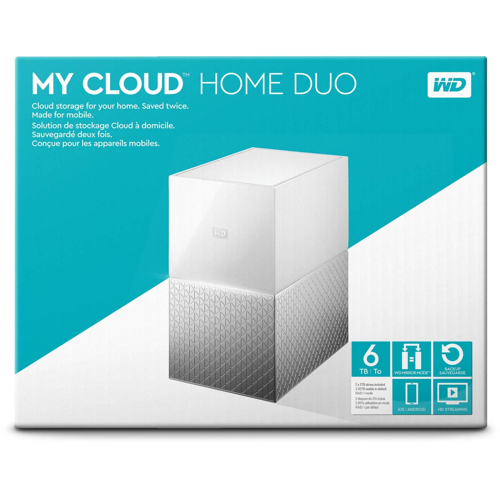 "NAS 3.5"" 6TB My Cloud Home Duo WD (WDBMUT0060JWT-EESN) изображение 10"