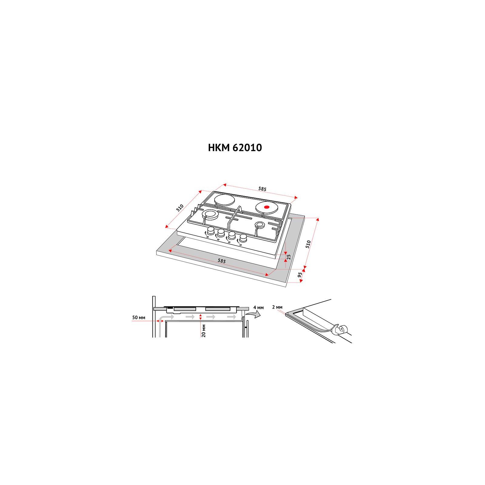 Варочная поверхность PERFELLI HKM 62010 BL изображение 7