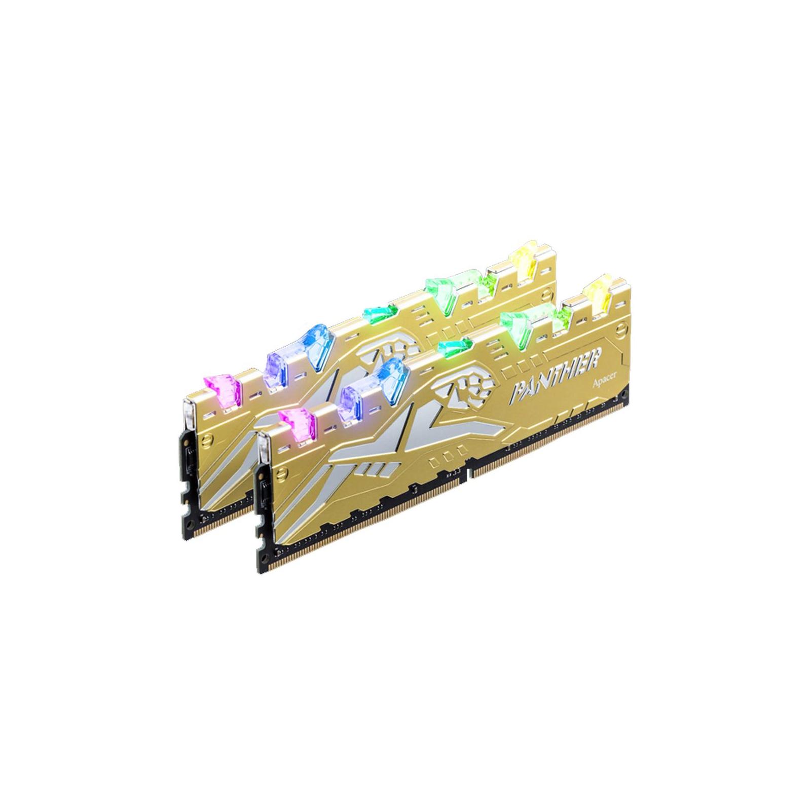 Модуль памяти для компьютера DDR4 16GB (2x8GB) 3000 MHz Panther Rage RGB Silver-Golden Apacer (K.16G2Z.GJMK2) изображение 2