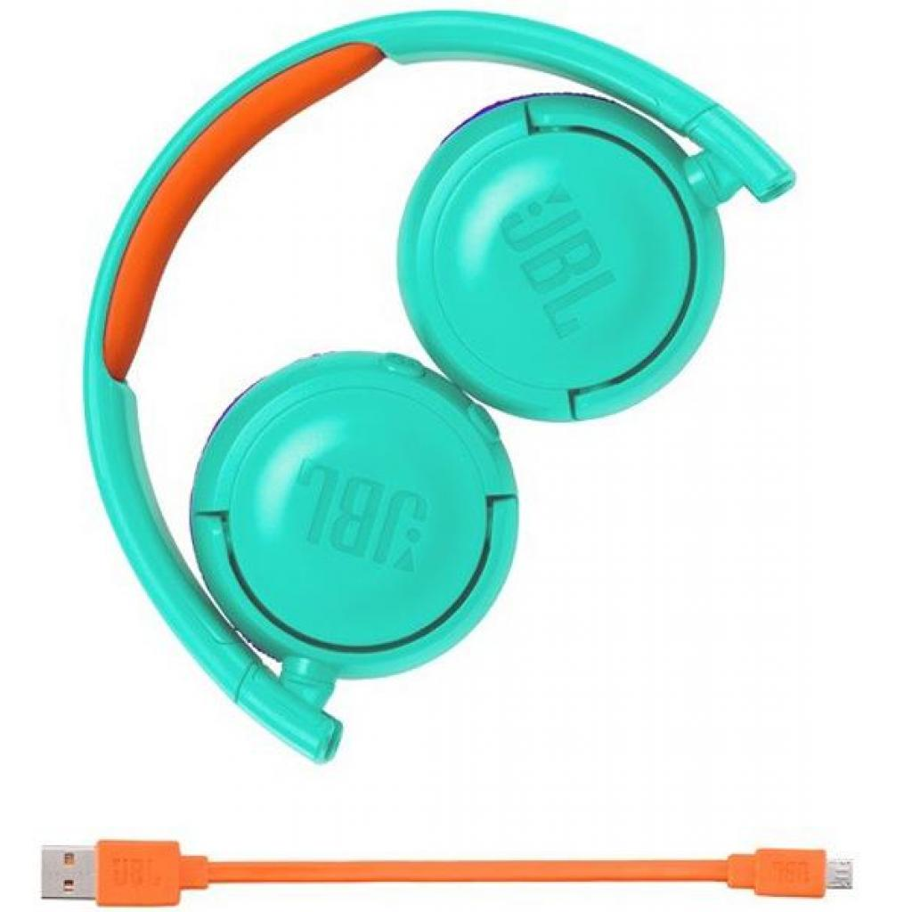 Наушники JBL Junior JR300BT Teal (JR300BTTEL) изображение 4