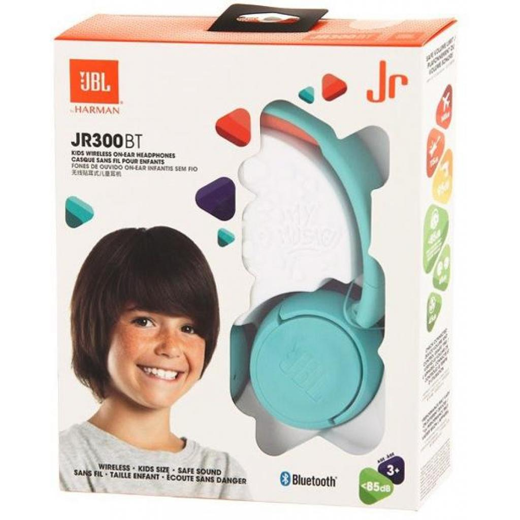 Наушники JBL Junior JR300BT Teal (JR300BTTEL) изображение 5