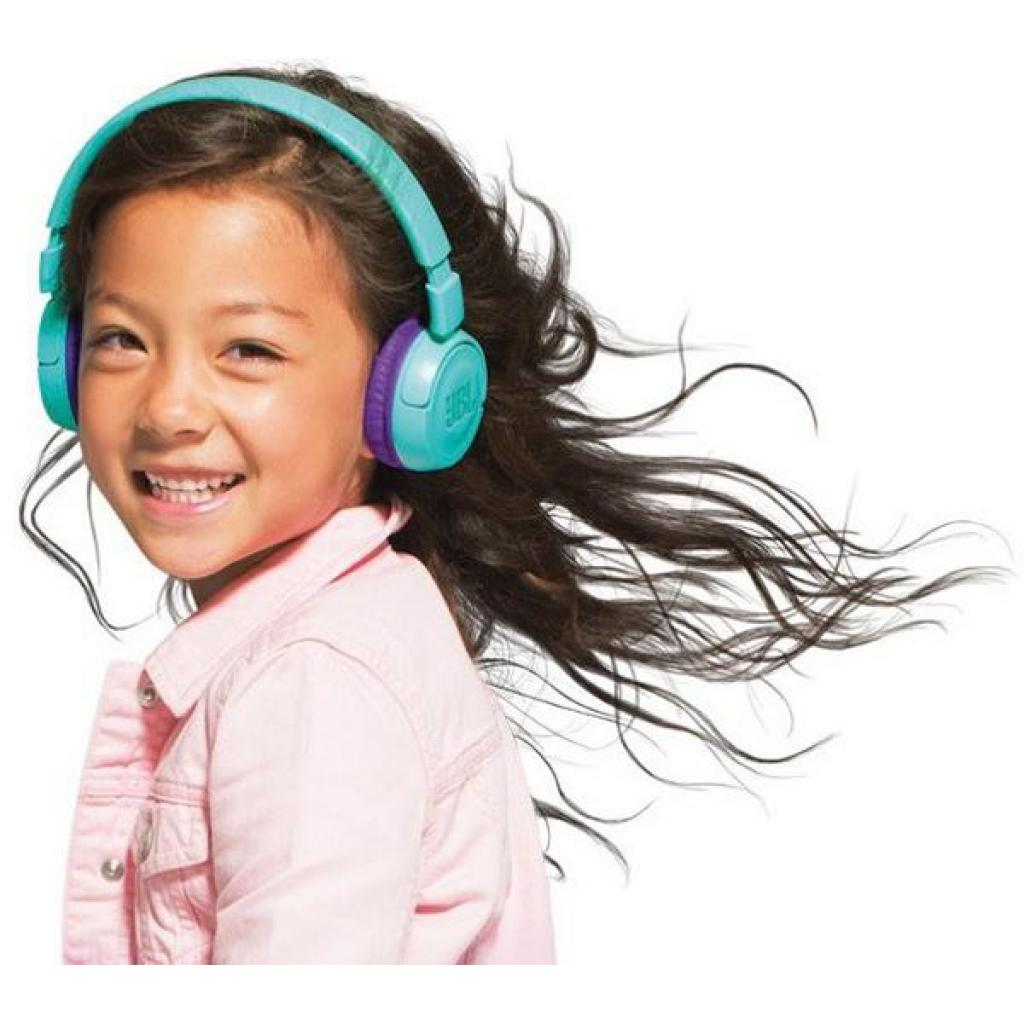 Наушники JBL Junior JR300BT Teal (JR300BTTEL) изображение 6