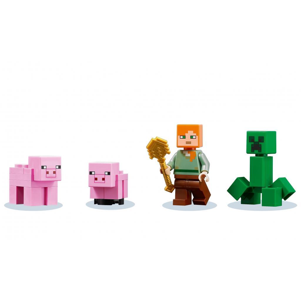 Конструктор LEGO Minecraft Дом-свинья 490 деталей (21170) изображение 3