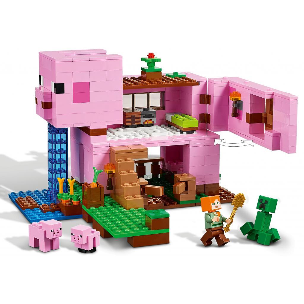 Конструктор LEGO Minecraft Дом-свинья 490 деталей (21170) изображение 4