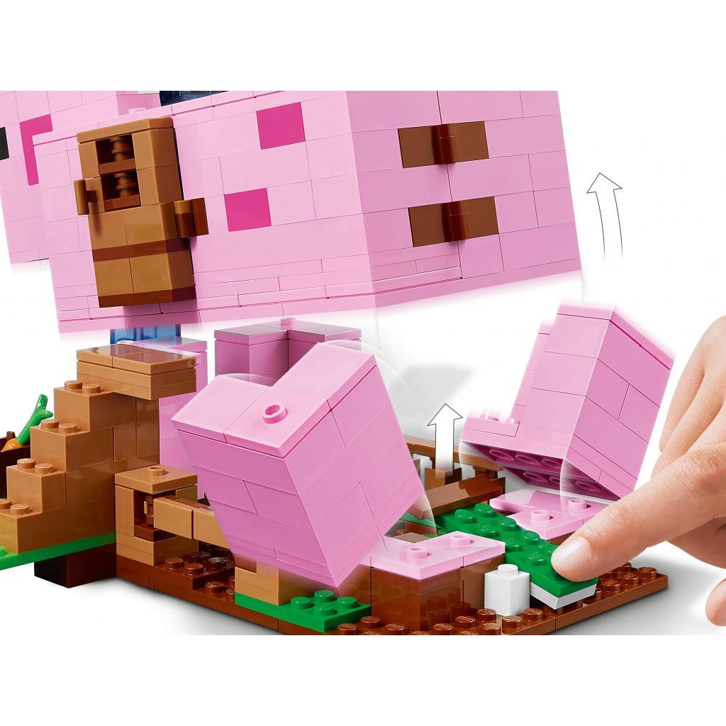 Конструктор LEGO Minecraft Дом-свинья 490 деталей (21170) изображение 5