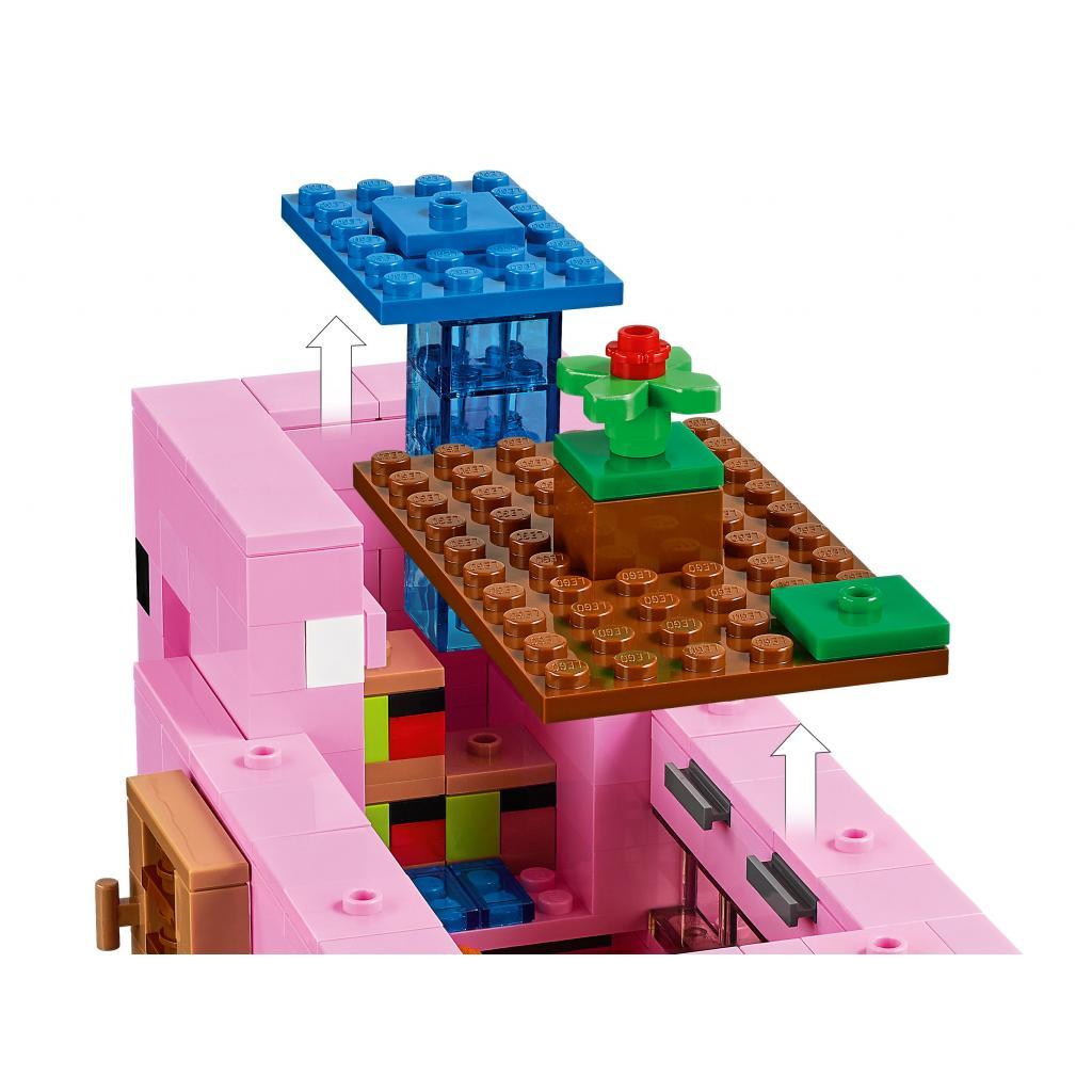 Конструктор LEGO Minecraft Дом-свинья 490 деталей (21170) изображение 6