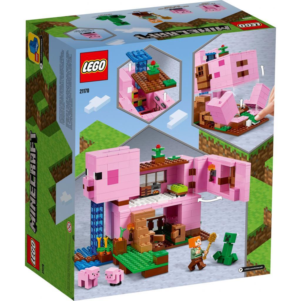 Конструктор LEGO Minecraft Дом-свинья 490 деталей (21170) изображение 7