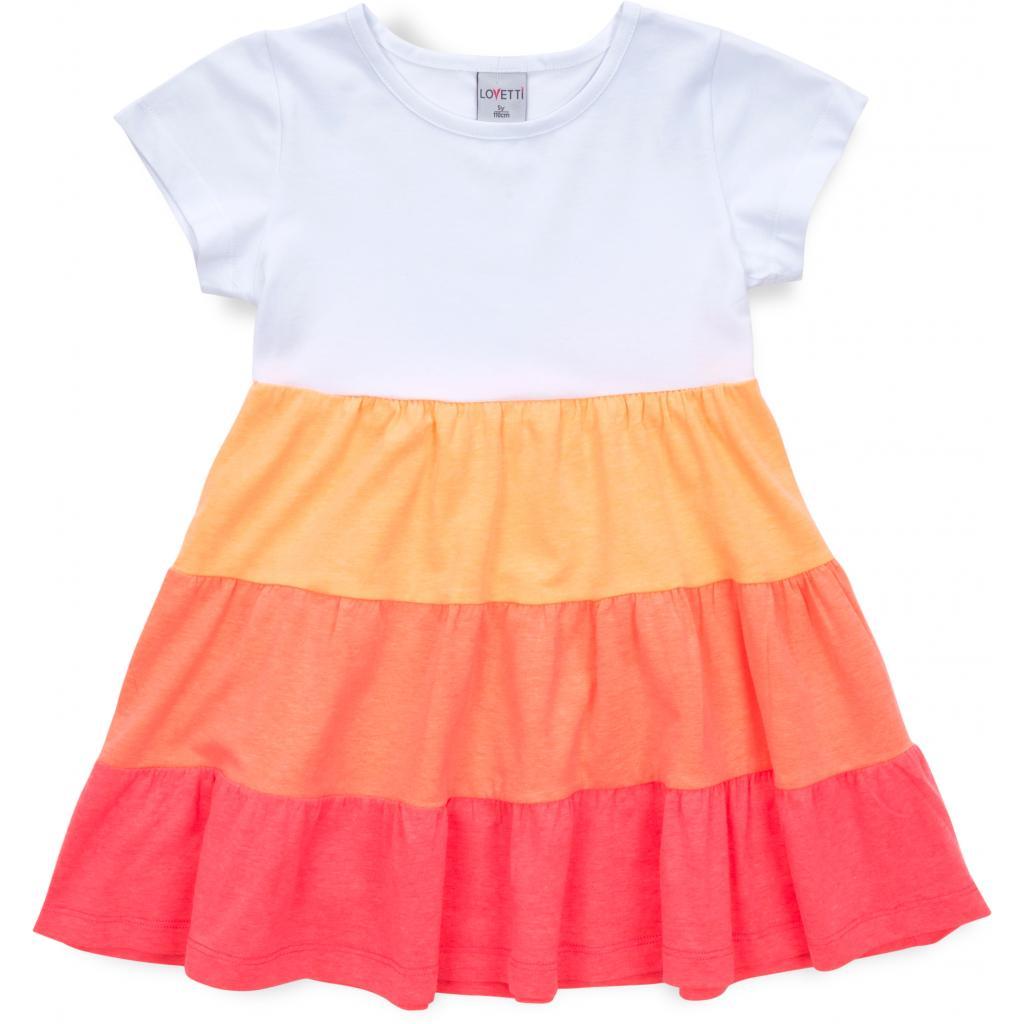 Платье Lovetti с оборками (9241-116G-orange)