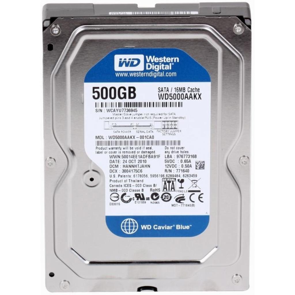 "Жесткий диск 3.5"" 500Gb Western Digital (WD5000AAKX)"