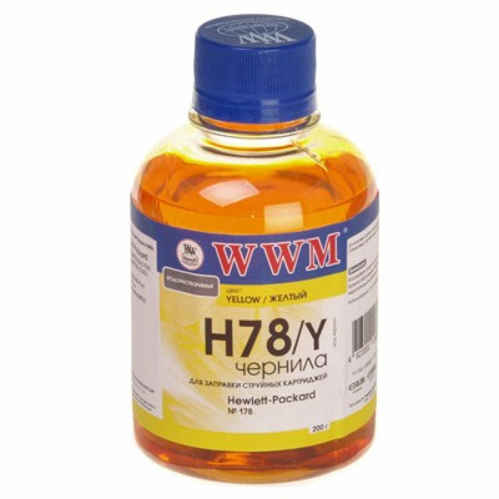 Чернила WWM HP №178 Yellow (H78/Y)