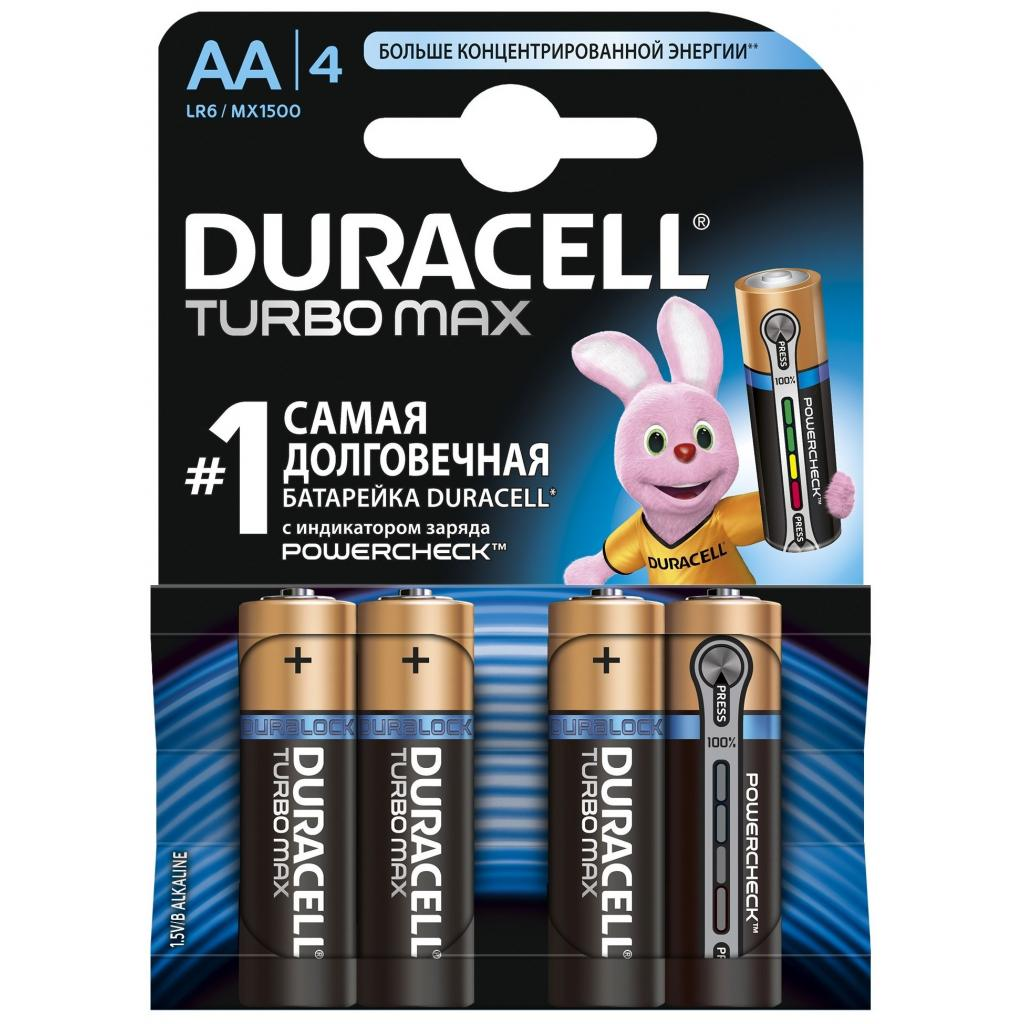 Батарейка Duracell AA TURBO MAX LR6 MN1500 * 4 (5000394069190 / 81546727)