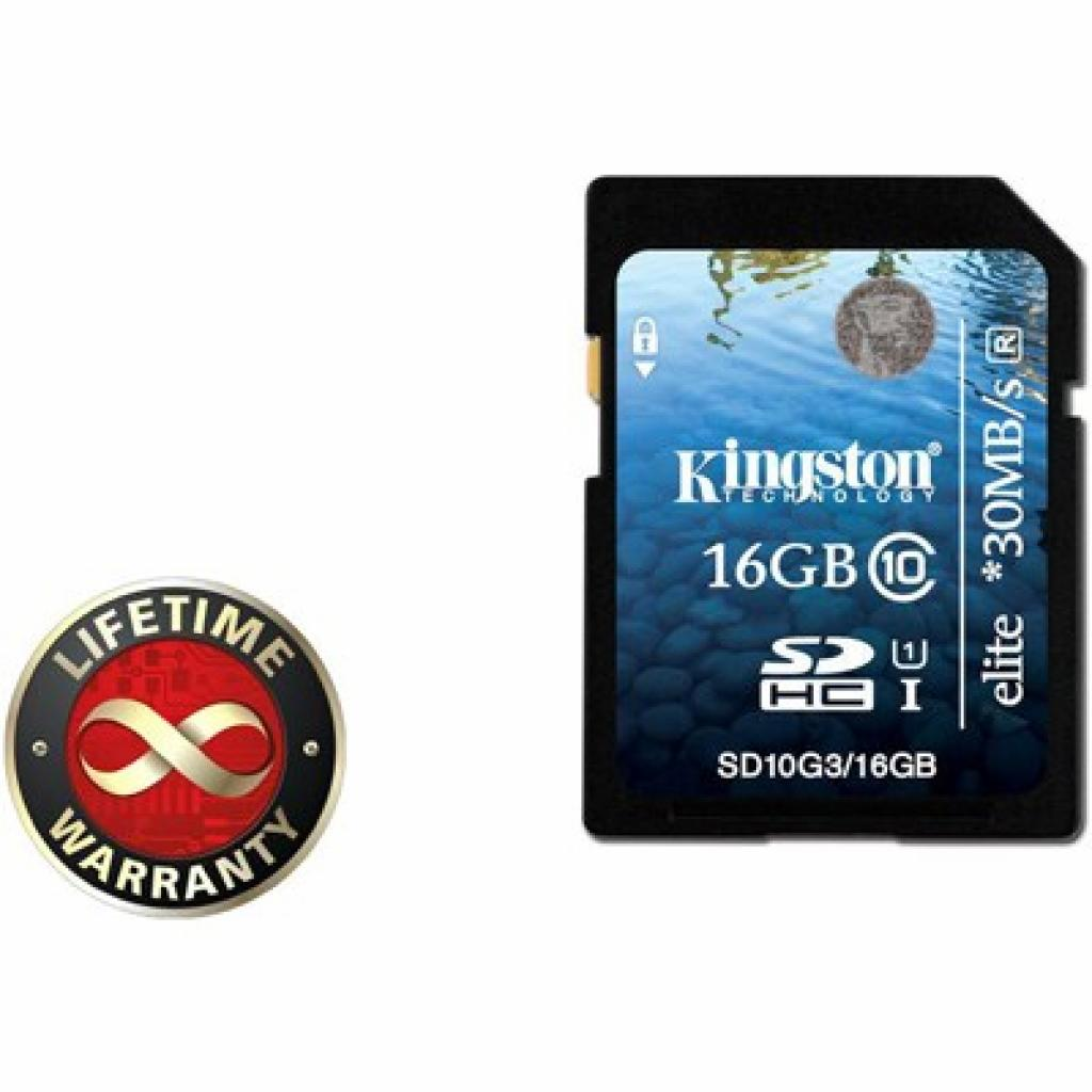 Карта памяти 16Gb SDHC class 10 Generation 2 (10 Kingston (SD10G2/16GB)
