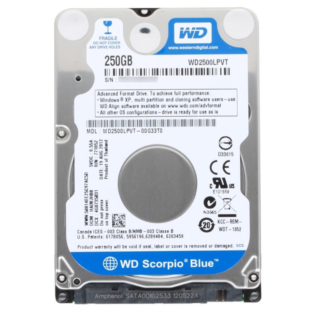 """Жесткий диск для ноутбука 2.5"""" 250GB Western Digital (WD2500LPVT)"""