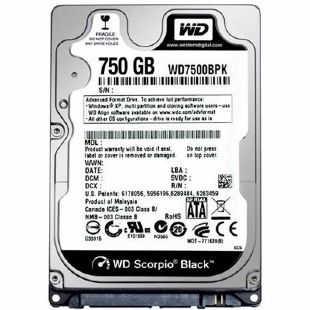 "Жесткий диск для ноутбука 2.5"" 750GB Western Digital (WD7500BPKX)"