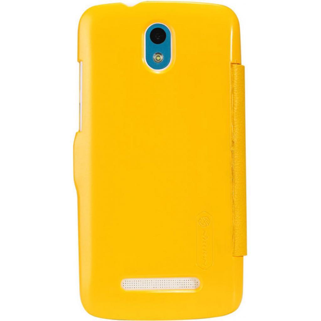 Чехол для моб. телефона NILLKIN для HTC Desire 500-Fresh/ Leather/Yellow (6088696) изображение 2