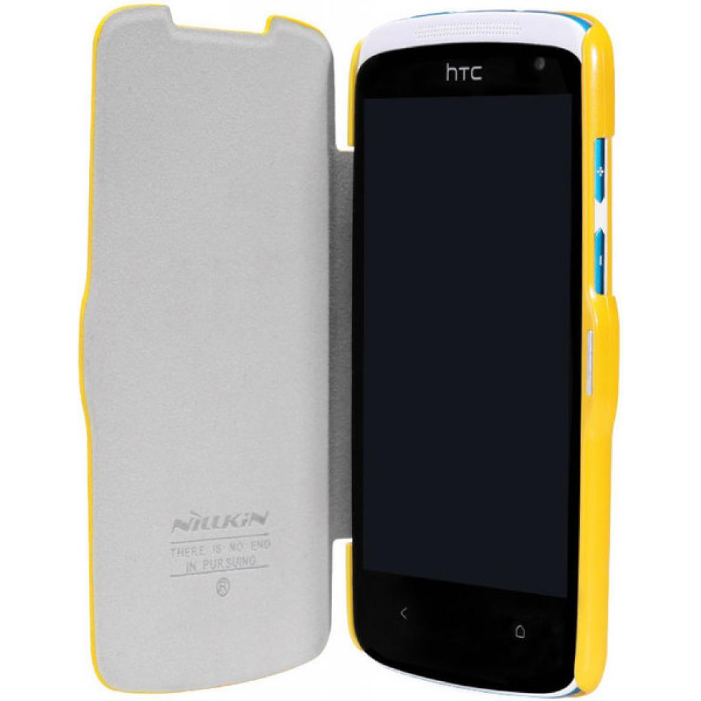 Чехол для моб. телефона NILLKIN для HTC Desire 500-Fresh/ Leather/Yellow (6088696) изображение 3