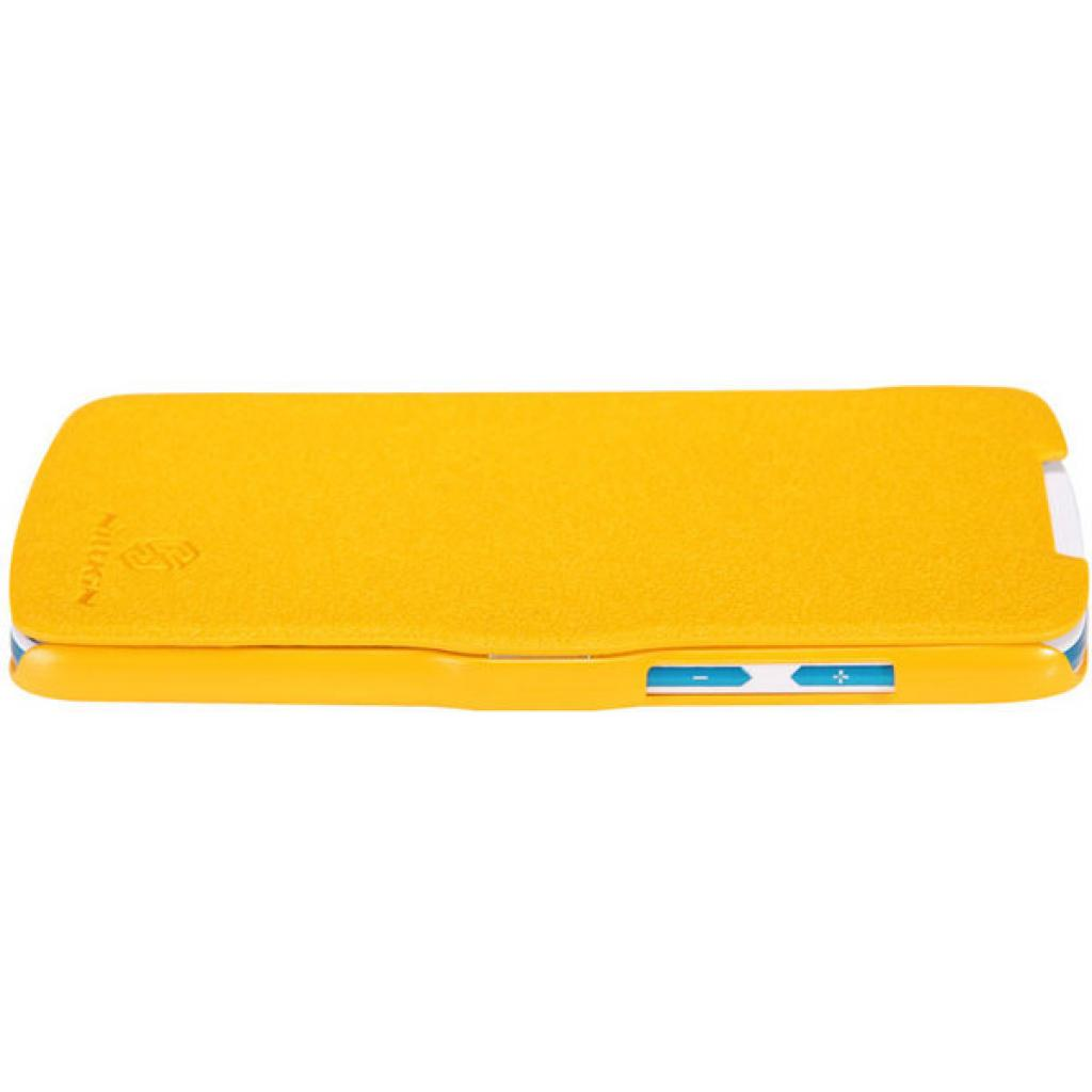 Чехол для моб. телефона NILLKIN для HTC Desire 500-Fresh/ Leather/Yellow (6088696) изображение 4