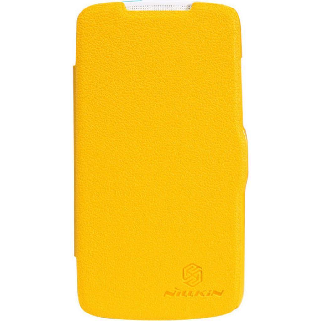 Чехол для моб. телефона NILLKIN для HTC Desire 500-Fresh/ Leather/Yellow (6088696)