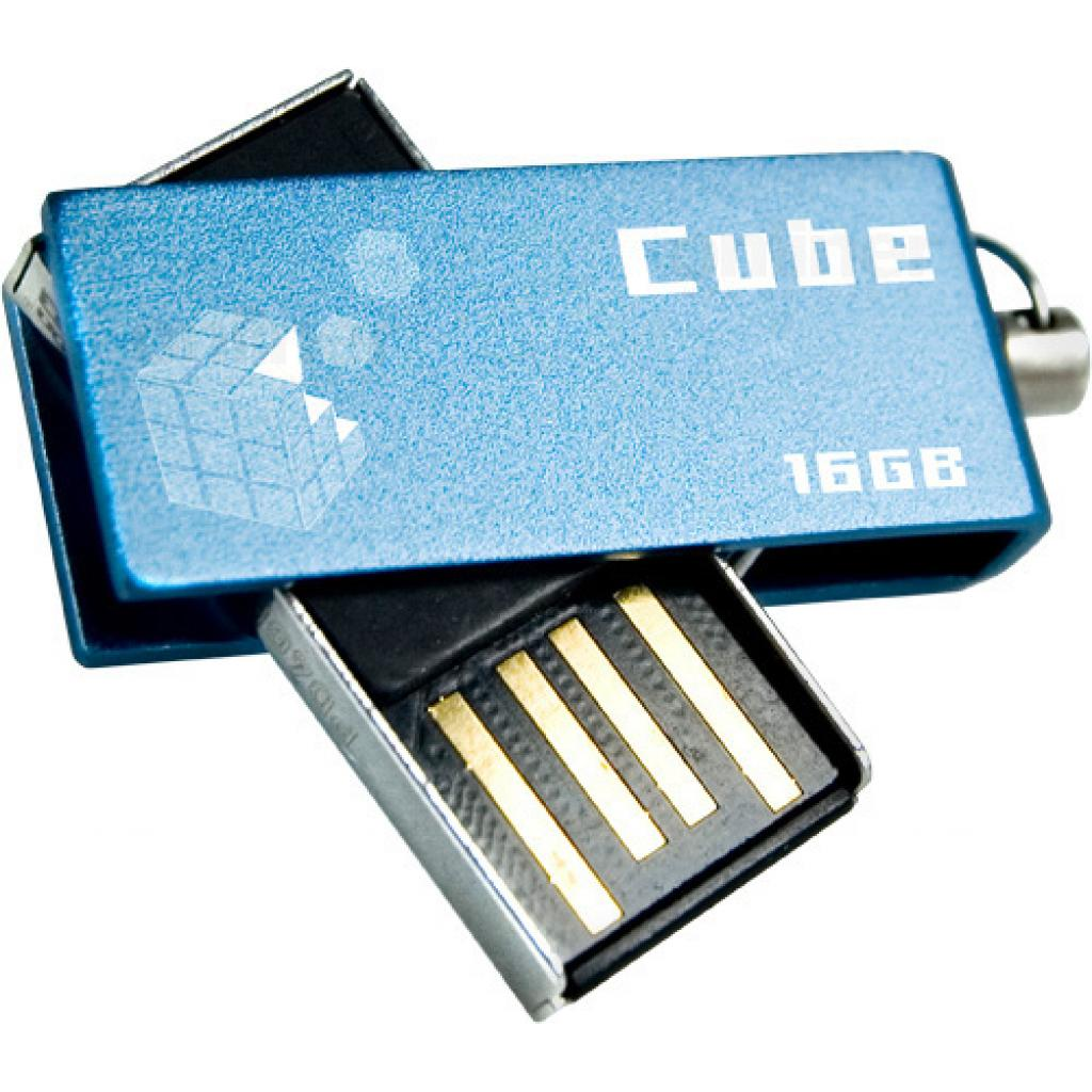 USB флеш накопитель GOODRAM 16Gb Cube Blue (PD16GH2GRCUBR9) изображение 2