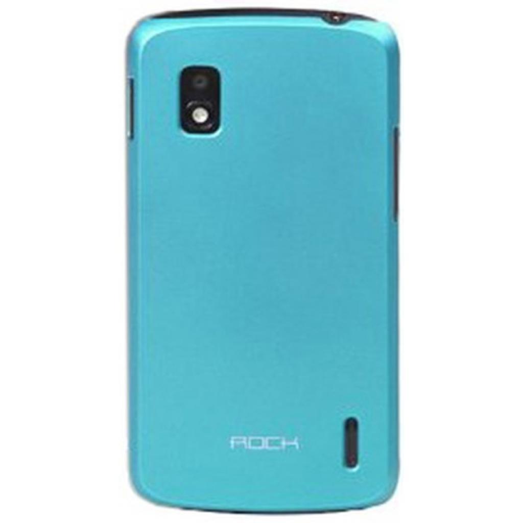 Чехол для моб. телефона Rock LG E960 Naked shell polycarbonate blue (LG E960-45259)