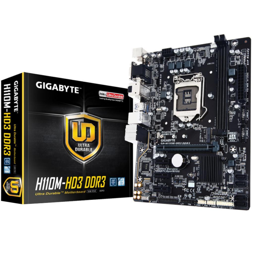 Материнская плата GIGABYTE GA-H110M-HD3 DDR3