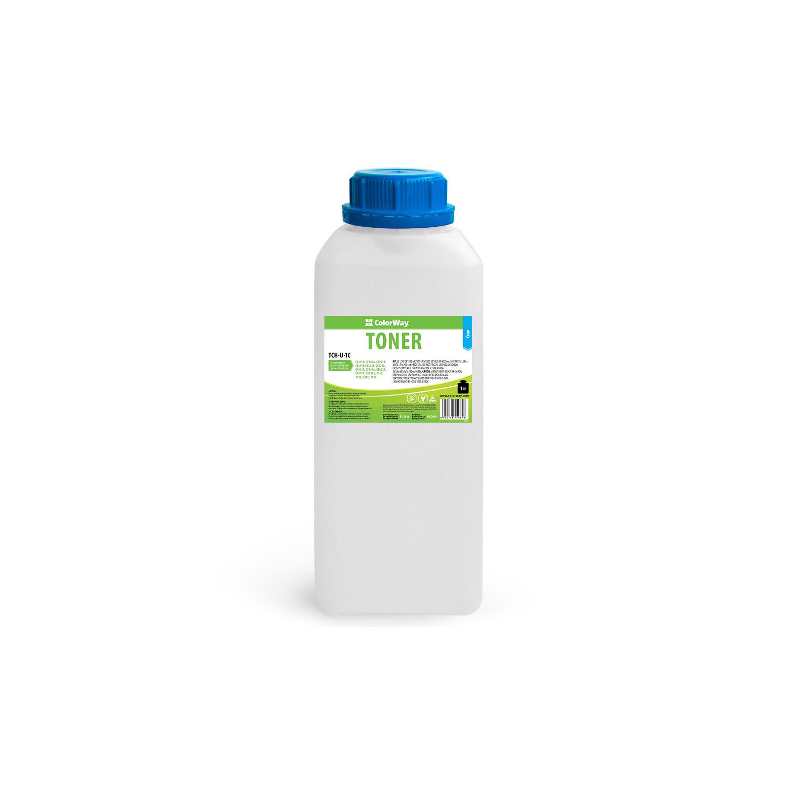 Тонер HP CLJ Universal color Cyan 1kg ColorWay (TCH-U-1C)