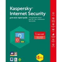 Программная продукция Kaspersky Internet Security Multi-Device 1 ПК 1 год + 3 мес Ren Box (KL1941OOAFR17)